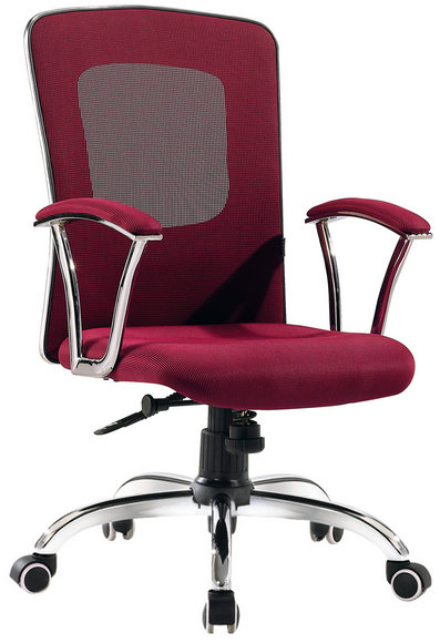 ergonomic red office chair RFO061B