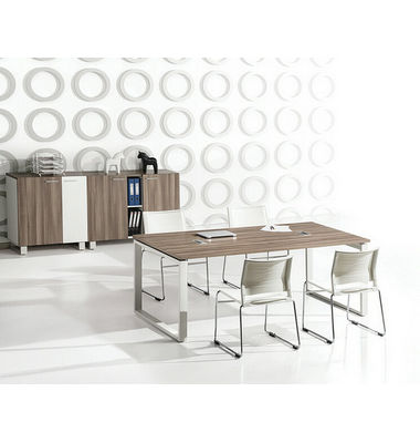 conference table modern design, meeting table desk, metal wood meeting table with power