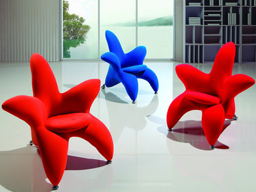 Beautiful Modern Fabric Chairs / Leisure Chairs / Visitor Chair / Flowers Chair /  Reception Chairs